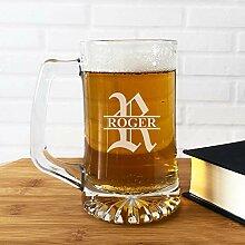 Großes Bierglas, Bierkrug Gläser, gravier