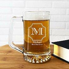 Großes Bierglas, Bierkrug und Gläser,