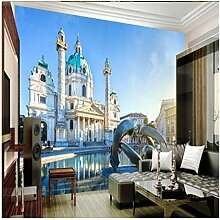 Großes Fresko Europäische Architektur Schloss