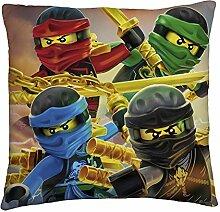 Großes Lego Ninjago Kissen Red Eyes 40 x 40 cm