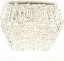 Großes Mid-Century Flutlicht mit Strukturglas,