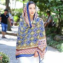 Großes Muttertagsgeschenk- Frühling und Sommer Herbst und Winter Schals Strandtücher Sonnenschutz Schals Frauen Baumwolle und Leinen Urlaub Schal Schal ( Farbe : 6 )