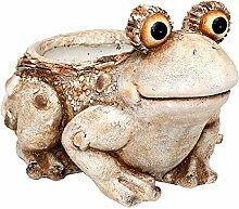 Großes Pflanzgefäß Frosch 42 cm groß