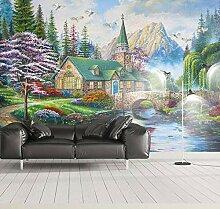 Großes Wandfarbe-Landschafts-Tapeten-Wandgemälde