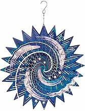 Großes Windspiel aus Metall, Sonnenfänger, Garten-Ornament zum Aufhängen, Galaxy, 30,5cm