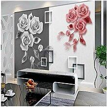 Großformatige Wandreliefs Rose Art Tv Hintergrund