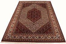 Großteppich Bidjar Indien ca. 310 x 215 cm · Rot · handgeknüpft · Schurwolle · Klassisch · hochwertiger Teppich · S099080