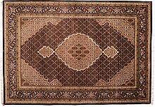 Großteppich Täbriz Mahi Indien ca. 290 x 205 cm · Braun · handgeknüpft · Schurwolle · Klassisch · hochwertiger Teppich · S098620