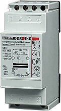 Grothe Klingel Transformator 8/12 V AC, 1,3/1 A,