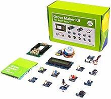 Grove Maker Kit für Intel Joule, reichhaltige Grove Modulen, Button, Sound Sensor V1.2, Touch Sensor, LichtSensor V1.2, Temperatur Sensor V1.1, Rotary Winkel Sensor (P), Piezo Vibration Sensor, Elektronische Komponenten