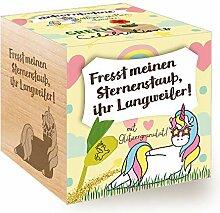 Grow Your Own Einhornbohne, Holzwürfel Mit