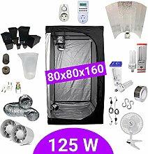 Growbox Komplettset 125 Watt CFL Wachstum &