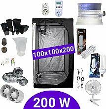 Growbox Komplettset 200 Watt CFL Wachstum &
