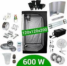 Growbox Komplettset 600 Watt HPS Cooltube