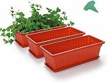 Growneer Blumenkasten mit 15 Pflanzenetiketten