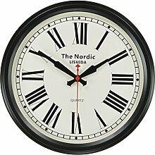 grte Dekorative Wand Uhr/Im Nordischen Stil Stille Wanduhren/Vintage Dorf Antike Wanduhr - C 14 Zoll