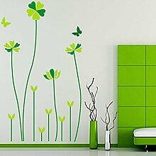 Grün blättrigen Gräser Schmetterlinge Wand Aufkleber PVC Home Aufkleber House Vinyl Papier Dekoration Tapete Wohnzimmer Schlafzimmer Küche Kunst Bild DIY Wandmalereien Mädchen Jungen Baby Kinderzimmer Spielzimmer Decor