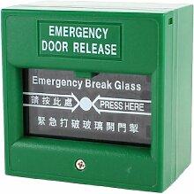 Grün Fire Knopf Tür Alarmanlage Breakglass Notfall Herauslösen