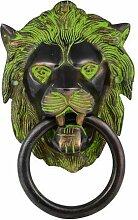Grün Löwe Tür Knockers, grün, Größe: 10,2x