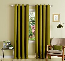 grün lushomes Öse feste dekorative Vorhänge blackout Tür- / Fenster Ebene drapers 1 Stück