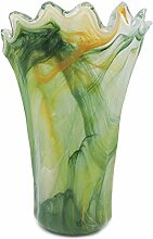 Grün Murano Glas Vase Milord Made in Italy