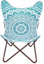 Grün Ombra Mandala Stuhl, Bezug Leinwand Butterfly Stuhl Sessel, Stuhl
