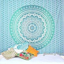 Grün Ombre Mandala Tapisserie Wand Kunst Hangings Hippie Wandteppiche Dorm Decor