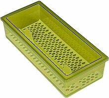 [Grün] Plastik Stäbchen Box Besteck