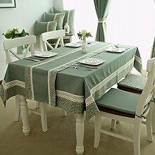 grün Tischdecke esstisch Reiner baumwolle dekoration geometrie antifouling Hotel Couchtisch Geschirr staub tuch , 140*180cm