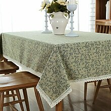 grün Tischdecke Reiner baumwolle Einfache antifouling Dekorative Hotel Couchtisch esstisch Geschirr staub tuch , 140*220cm