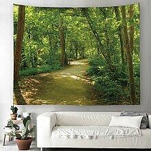 Grün Wald Dschungel Wandteppich Natur Landschaft