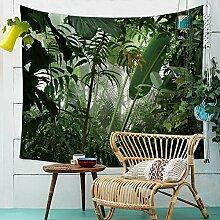 Grün Wald Wandteppich Dschungel Natur Landschaft