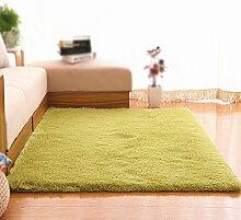 Grün Waschbar Teppich / Wohnzimmer Sofa Tee Tisch Schlafzimmer Teppich Bettdecke / Wohnzimmer Dicke Rutschfeste Teppich ( größe : 120*160cm )