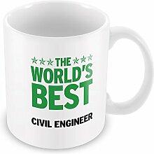 Grün Worlds Best Ingenieur Becher 070