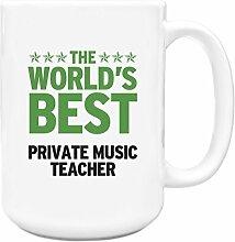 Grün Worlds Best Private Music Teacher Big 444ml Becher 299