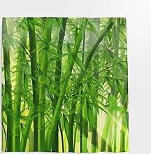 Grüne Bamboo Wald Duschvorhang Bambusmotiv Bambus