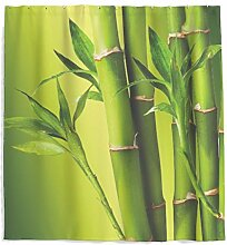 Grüne Bambus Duschvorhang mit