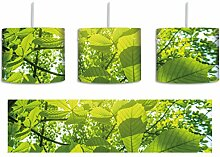 Grüne Blätter inkl. Lampenfassung E27, Lampe mit