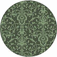 Grüne, dezent üppige Tapete mit klassischem Damast Muster angepasst an Farrow and Ball Wandfarben - Vliestapete Ornamente - exklusive Wanddeko - GMM Design Tapete - Wandtapete - Wand Dekoration für edle Wohnakzente (Höhe 3m Breite 46,5cm)