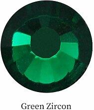 Grüne Farbe SS3 - SS30 Hotfix Strasssteine