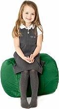 Grüne, gesteppte, wasserabweisende rund Sitzsack