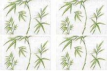 Grüne Pflanze Bambus Blatt Wild Kitchen Printed