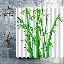 Grüne Pflanze Bambus Duschvorhänge im