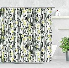 Grüne Pflanze Bambus Duschvorhang Stoff