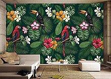 Grüne Pflanze Blatt Blume Vogel Papagei Wallpaper