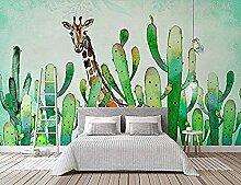 Grüne Pflanze Kaktus Giraffe Wallpaper Tapete