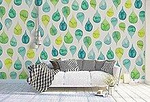 Grüne Pflanze mit Wassertropfen Wallpaper Tapete