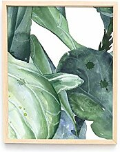 Grüne Pflanze transparent Acryl dekorative