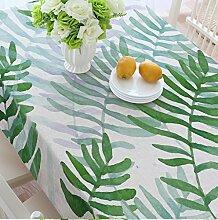 Grüne Pflanze verlässt Tischdecken, Leinen Tischdecken, Couchtisch Tuch runde Tischdecken , #2 , 140*140cm
