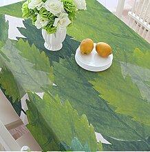 Grüne Pflanze verlässt Tischdecken, Leinen Tischdecken, Couchtisch Tuch runde Tischdecken , #3 , 140*180cm